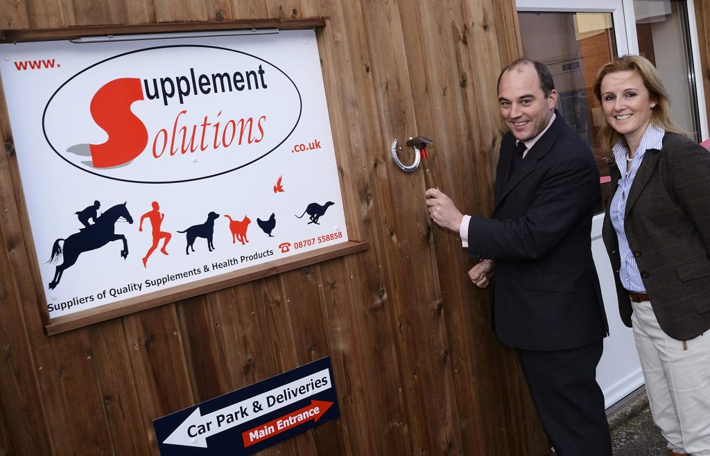 Ben Wallace MP opens new Supplement Solutions premises in Great Eccleston with Hannah Wild